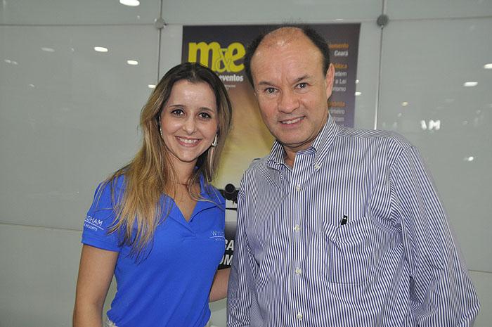 Natalia de Oliveira e Rafael Vasquez, coordenadora de Marketing Brasil e diretor Sênioe de Vendas América Latina da Wyndham