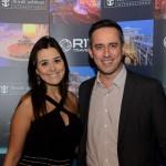 Nathalie Freitas, da R11, e Umberto Nocelli, da Flytour Viagens