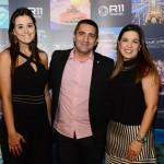 Nathalie Freitas e Sabrina Moretti, da R11, e Fabio Rosa, da Latam Travel
