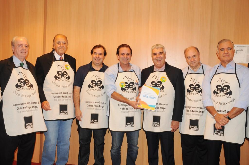 Nilo Felix, Michel Tuma Ness, Rodrigo Maia, Eduardo Paes, Alfredo Lopes, César Maia e Julio Lopes