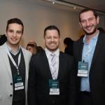 Odirley Siviero e Ricardo Dias, do Hotéis Mabu & Resorts, e Eduardo Matteucci, da BHG Hotéis