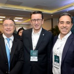 Olivier Hick, da Accor Hotels, Jean-Marc, do Intercontinental, e Mauro Rial, da Accor Hotels