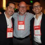 Philip Hannes, do Turismo de San Diego, com Fernando Harb e Gabriel Martinez, do Fort Lauderdale CVB