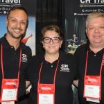 Rafael Guimarães, Miriam Silva e Eduardo Bittencourt, da CH Travel