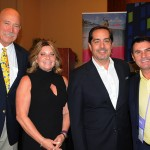 Rick Still, do La Cita, Stacy Ritter e Fernando Harb, de Fort Lauderdale CVB, e Claudio Dasilva, do BrazilTM