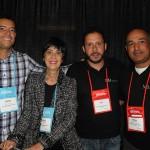 Rodrigo Barros, Marina Barros, Caue Castro e Edilson Oliva, da MB Doubleem