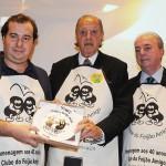 Rodrigo Maia, presidente da Cãmara dos Deputados, Michel Tuma Ness, fundador do Clube do Feijão Amigo, e Nilo Félix, secretário de Turismo do RJ