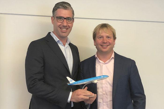 Seth van Straten, diretor Comercial América do Sul e Pim Neijenhuizen, gerente de Desenvolvimento de Costumer Care da Air France-KLM