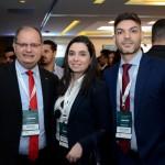 Thiago Pacos, Carolina Proença, e Renato Gagliardi, do Sheraton SP