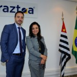 Tiago Tomazella, da Embratur, e Monica Samia, da Braztoa