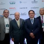Toni Sando, do SPCVB,  Manuel Gama, da Rede Travel Inn, Manoel Linhares, da ABIH Nacional, e Roland Bonadona, da BHC