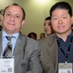 Toni Sando, do SPCVB, e Bruno Omori, presidente licenciado da ABIH-SP