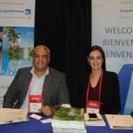Valentim Ortega e Andrea Islas, da Copa Airlines