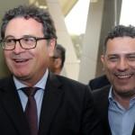 Vinícius Lummertz, ministro do Turismo, e Gilmar Piolla, secretário de Turismo de Foz
