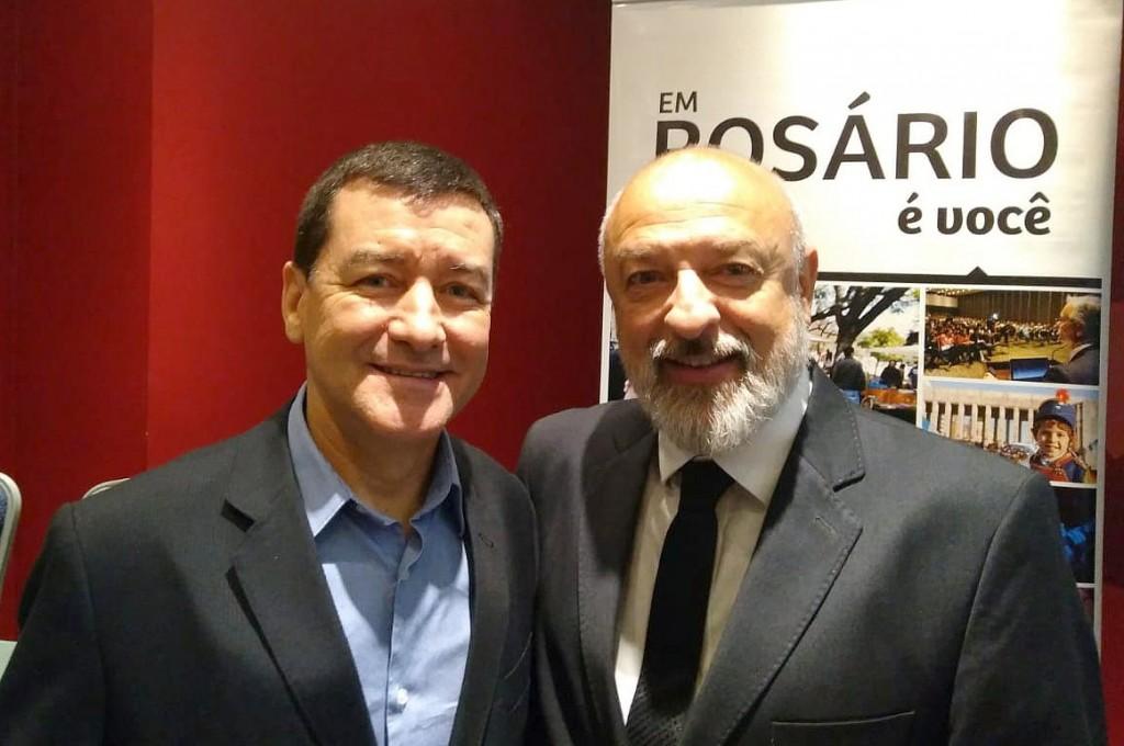 Ivan Blanco Cadahia, gerente Comercial da Aerolíneas Argentinas, e Héctor De Benedictis, secretário de Turismo de Rosário