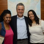 Ana Gamos, da Aero Plus, Carlos Capistrano, da RXT Travel, e Elenilde Rodrigues, da Nova Operadora