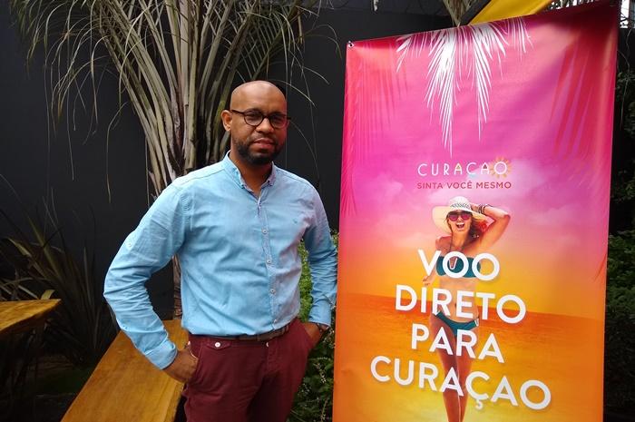 André Rojer, gerente de Marketing da agência de turismo de Curaçao para a América do Sul