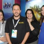 Andrea Gabel, de St Pete & Clearwater, Cauê Castro, de Fort Lauderdale, Rafaella Brown, do Visit Florida, e Gabriela Delai, da Disney