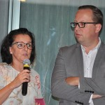 Anousjka Schmidt e Pieter Callebaut falaram brevemente aos agentes e operadores presentes