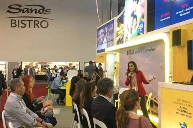 Apresentação de destinos brasileiros aos compradores internacionais na IMEX America 2018