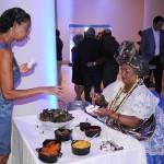 Baiana abriu o coquetel com a culinária típica da Bahia