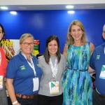 Bianca Pizzolito, da WTM-LA, Rosa Masgrau, do M&E, Andrea Gabel, de St