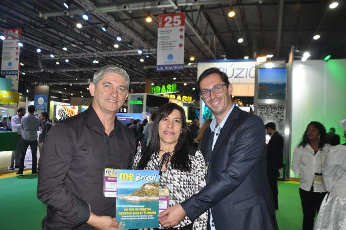 Carlos Souza, Giselda Souza e Alexandre Percatt, da Prefeitura de Torres, no Rio Grande do Sul