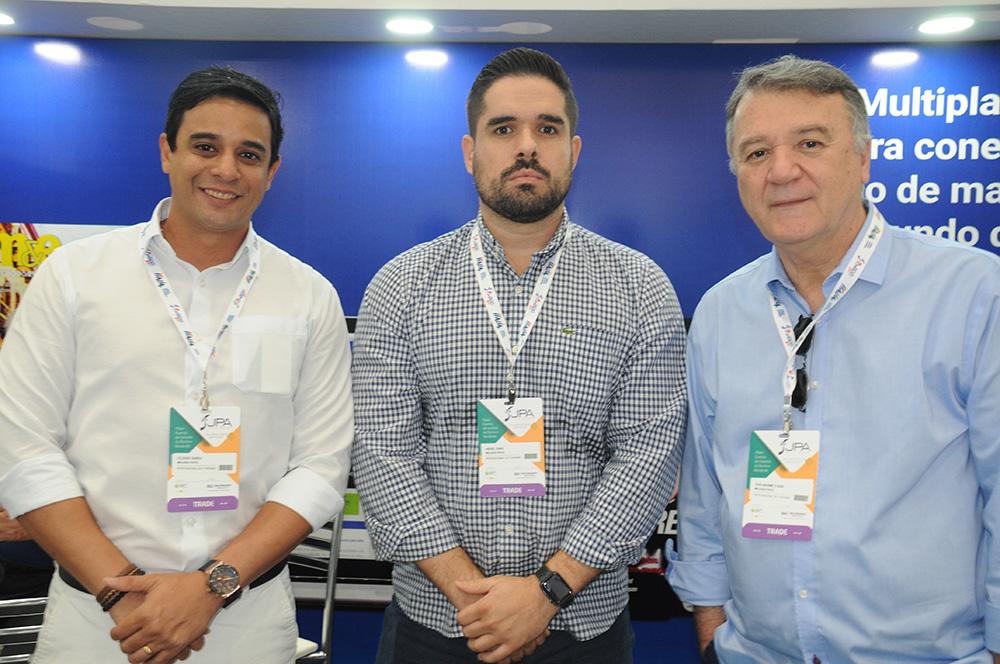 Clóvis Tadeu, Hedel Dias e Guilherme Fussi, da Milhas Fácil