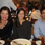 Claudia Dantas, da Conexão Turismo, com Paula Knevitz e Lucas Cerqueira, da Klas Viagens