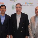 Claudio Tinoco, secretário de Turismo de Salvador, Roberto Duran, presidente do Salvador Destinations, e Jorge Khoury, do Sebrae