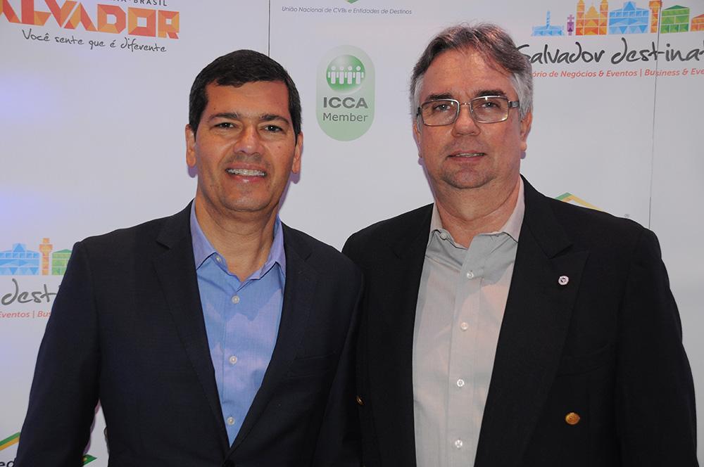 Claudio Tinoco, secretário de Turismo de Salvador, e Roberto Duran, presidente do Salvador Destinations
