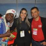 Cleber Mumu e Alessandra Veiga, da Bahiatursa, e André Matos, da TCH Receptivo
