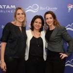 Daniela Rocco, do Grupo Rio Quente, Lyvia Abrahão e Jessica Sanchez, da Zum Americas