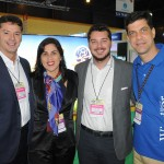 David Prono, da DTP Travel, Lara Siqueira, Juaquin Prono, da DTP Travel, e Ivan Bonfim, do Windsor