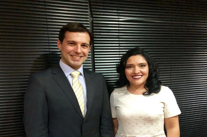 Eduardo Zorzanello e ministra do Paraguai, Sofia Afara