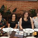 Eliana Silva, da Eliana Viagens, Rosane Balassiano e Erika Freitas, da Total Cruzeiros, e Mel Soares, da CVC