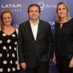 Flavia Possani e Daniela Rocco, do Grupo Rio Quente, e Clau Sganzerla, vp da Algar