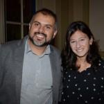 Francisco Almeida, da Azul, e Julia Felix, da Disney