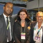 Girum Abebe, da Ethiopian Airlines, Tatiana Korman, da Secretaria de Turismo de Curitiba, e Rosa Masgrau, do M&E