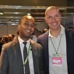 Girum Abebe, da Ethiopian Airlines, e Marcelo Kaiser, da Aviareps