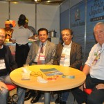 Guilherme Paulus, presidente da GJP, Valter Patriani, VP da CVC Corp, Arialdo Pinho, secretário de Turismo do Ceará e Roy Taylor, do M&E