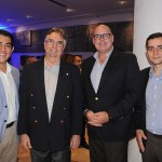 Gustavo Alves, do Wish Hotel da Bahia, Roberto Duran, do Salvador Destinations, com Julio Ribas e Francisco Mendes, do Aeroporto de Salvador:Vinci