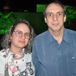 Hayla Andrade, da Kangaroo Tours, e Pedro Miracca, da Pam Turismo