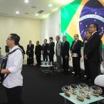 Hino nacional brasileiro foi tocado por acordeon
