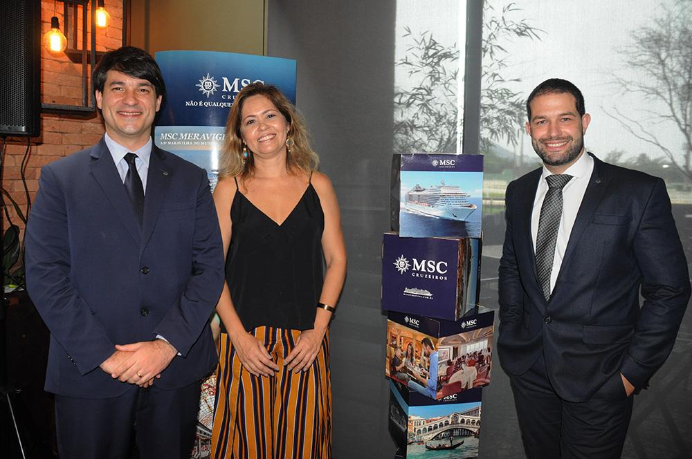 Ignacio Hidalgo, Fernanda Zebral e Bruno Cordaro, da MSC