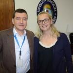Ivan Blanco, da Aerolíneas Argentinas, e Rosana Cassini, da Flytour