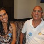 Lara Bourguignon, da Milênio, e Mauricio Escovedo, da Tour USA