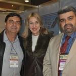 Liberato Pinto, da Neltur, Luiana Leite, da WTA-LA, e Richard Alves, secretário de Turismo de Porto Seguro