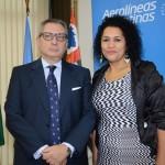 Luis Castillo, cônsul geral da Argentina, María Carla Ferreira, da Provincia de Santa Cruz