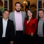 Luiz Araujo Jr. e Paula Mena Barreto, da Disney, com Daniel Brunod e Ricardo Bezerra, da Azul Viagens